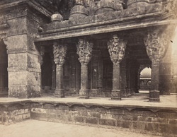 Columns on the West face of the Chaumukh, South end [Satrunjaya].